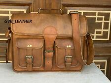 Men's New Business Office Bag Dynamic Leather Vintage Laptop Computer Messenger