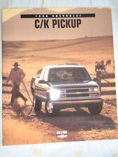 CHEVROLET C/K Pickup BROCHURE 1998 mercato USA