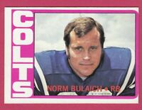 1972 Topps Football # 232 Norm Bulaich - Colts - Box 734-247