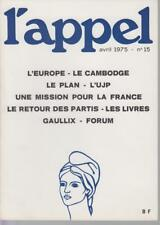GERMAIN-THOMAS Olivier Directeur / L'APPEL - Avril 1975 - N° 15