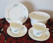 Antique Bridgewood and Son Mid 19th Century Cups Saucers Waste Bowl Plate 7 Pcs