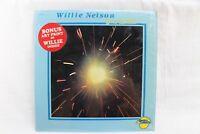 """Willie Nelson """"Just Willie"""" Bonus Art Print Of Willie Inside LP Record 1984"""