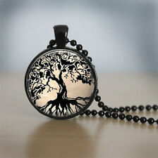 Life Glass Tile Jewelry Tree Pendant Glass Tile Necklace Tree Necklace Tree of