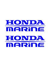 (2) Honda Marine Decals BLUE Sticker boat fish ski outboard aquatrax jetski