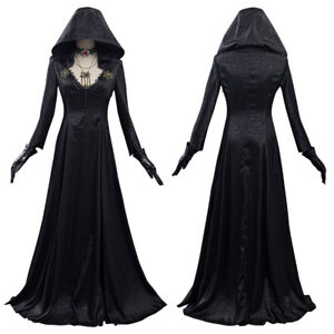 Resident Evil Village Costume Vampire Lady Dress Outfits Halloween Carnival Suit