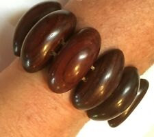 Large hand-carved Persian Rosewood Bracelet stretchy