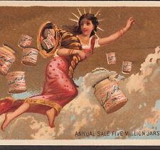 Liberty Goddess 1882 LIEBIG S76 English Language American Advertising Trade Card