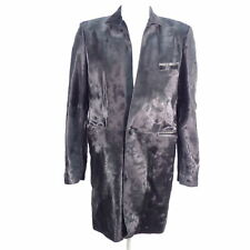 LAGERFELD Herren Mantel EU 50 Echt Leder Ziege Schwarz Leather Oberteil Coats