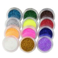 micro GLITTER per unghie smalto NAIL BODY ART MANICURE SEQUINS gel nagel ongles