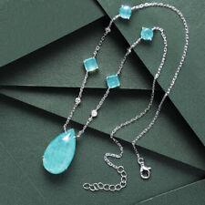 Luxury! Original Design Pendant, High Imitation Paraiba Tourmaline Necklace