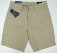 "NWT $75 Polo Ralph Lauren Classic Fit Chino 9"" Shorts Flat Mens 40 42 Tan NEW"