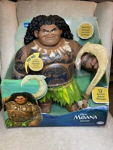 "Disney's Moana 16"" Mega Maui Figure - Includes Removable Fishhook Sings NIB"