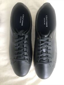 New Men's Cole Haan Grand Crosscourt Leather Shoes Casual Sneakers Black Size 13