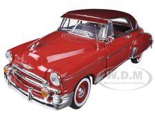 1950 CHEVROLET BEL AIR RED 1/18 DIECAST CAR MODEL BY MOTORMAX 73111