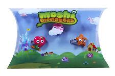 12 conjuntos de Anillo Ajustable Niñas Moshi Monsters Katsuma Fiesta Bolsas Muñeca Luvli