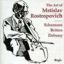 CD THE ART OF ROSTROPOVICH SCHUMANN CELLO CONCERTO BRITTEN SONATA DEBUSSY  ETC