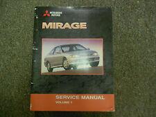 2002 MITSUBISHI Mirage Service Repair Shop Manual VOL 1 FACTORY OEM BOOK 02