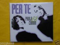 paola e chiara per te paola & chiara per te raro cd single promo digipack 1998