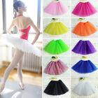 Girls Super Fluffy Elastic Stretchy Tulle Dress Teen 3 Layer Adult Tutu Skirt J