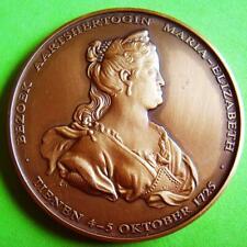Monarchy Belgium Visit of Maria Elizabeth in Tienen Bronze Medal by P HUYBRECHTS
