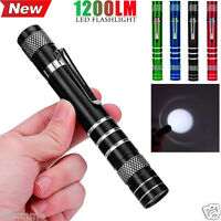 1200LM High Power Torch Cree Q5 LED Camping Tactical Flashlight AA Lamp Light UK