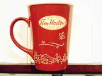 Tim Hortons 16 oz coffee Mug Ltd Ed #010 Canada Skyline Maple leaf 2010