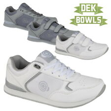 DEK Men's and Women's White Grey LAWN BOWLS TRAINERS Comfortable Bowling Shoes