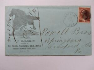 Iowa: Denison 1884 #210 Baldwin Horse Illustrated Advertising Cover