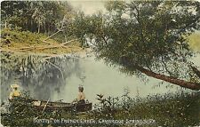 c1910 Postcard; Ladies Boating on French Creek, Cambridge Springs PA Crawford Co