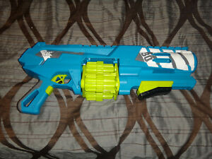 BOOM CO SPINSANITY 3X BATTERY OPERATED BLASTER GUN TESTED!