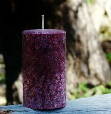 40hr CHRISTMAS MULBERRY SPICE Nutmeg Cinnamon Clove Scent Natural PILLAR Candle