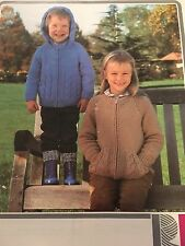 "Knitting Pattern Children Girl Boy Jacket Chunky 22-28"" Vintage"