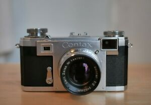 ZEISS IKON Contax IIa Black Dial 35mm w/ Sonnar 50mm f/2 Excellent+5 US seller