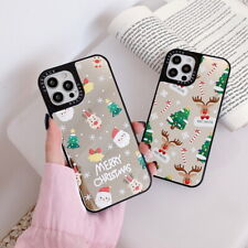 For iPhone 12 Pro Max 11 XS XR 7 8 6S Christmas Mirror Pattern Hybrid Case Cover