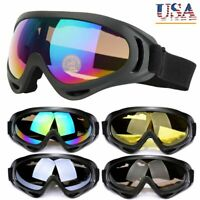 Mens Winter Snow Ski Goggles Anti-fog Lens UV Snowboard Snowmobile Motorcycle US