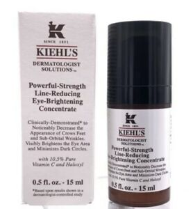 Kiehls Powerful Strength Line Reducing Eye Brightening Concentrate 0.5oz NEW