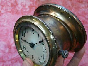 NICE  1910-1920's Brass era dash clock New Haven hot rat rod