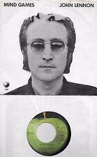 JOHN LENNON  Mind Games  original 45 with PicSleeve on APPLE label  BEATLES