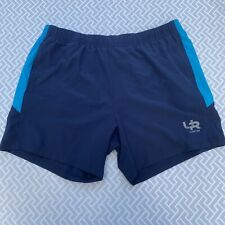 Men's Crivit Running Shorts - Blue - Size Large - With Pockets And Drawstring