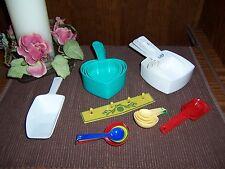 Retro Measure Cups & Spoons- Pillsbury Dough Boy- Wesson Oil-Heart Shaped-Colors