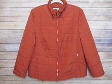 BASLER Quilted Puffer Jacket Lightweight Rust Orange Sz Eur 44 US 14