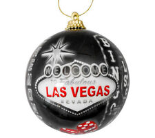 Vintage Las Vegas Sign Hotels Christmas Tree Ball Ornament Holiday Fremont Black