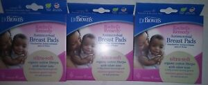 3 6pk Dr. Brown's Rachel's Remedy Antimicrobial Breast Pads, Ultra-soft Organic