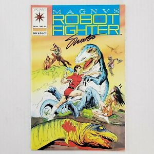 Valiant Magnus Robot Fighter 12 1st app. Turok Signed by Jim Shooter Check Pics!