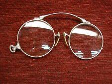 VINTAGE WHITE GOLD FILLED FOLDING EYE/OPERA GLASSES - SUPER CONDITION