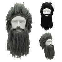 yuanjiagou Noël Coiffure Bonnet de Viking Masque de ski Barbe Haricot sauvage