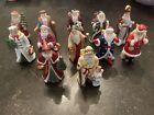 Lot Of 11 Vintage Lenox Memories Of Santa Fine Porcelain Figurines 1994 +1 Extra