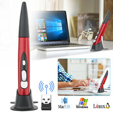 Red 2.4G Wireless Pointing Mouse Optical USB Pocket Drawing Write Pen Mice PC