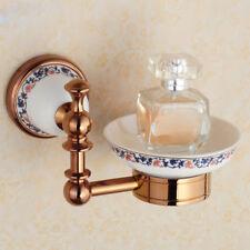Bathroom Bath Soap Dish Plate Ceramic Cup Holder Wall Mount Storage Hanger Shelf