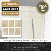 """96-Sheet Stationery Paper - 6 Ancient Egyptian Printed Papyrus Designs 8.5 x 11"""""""